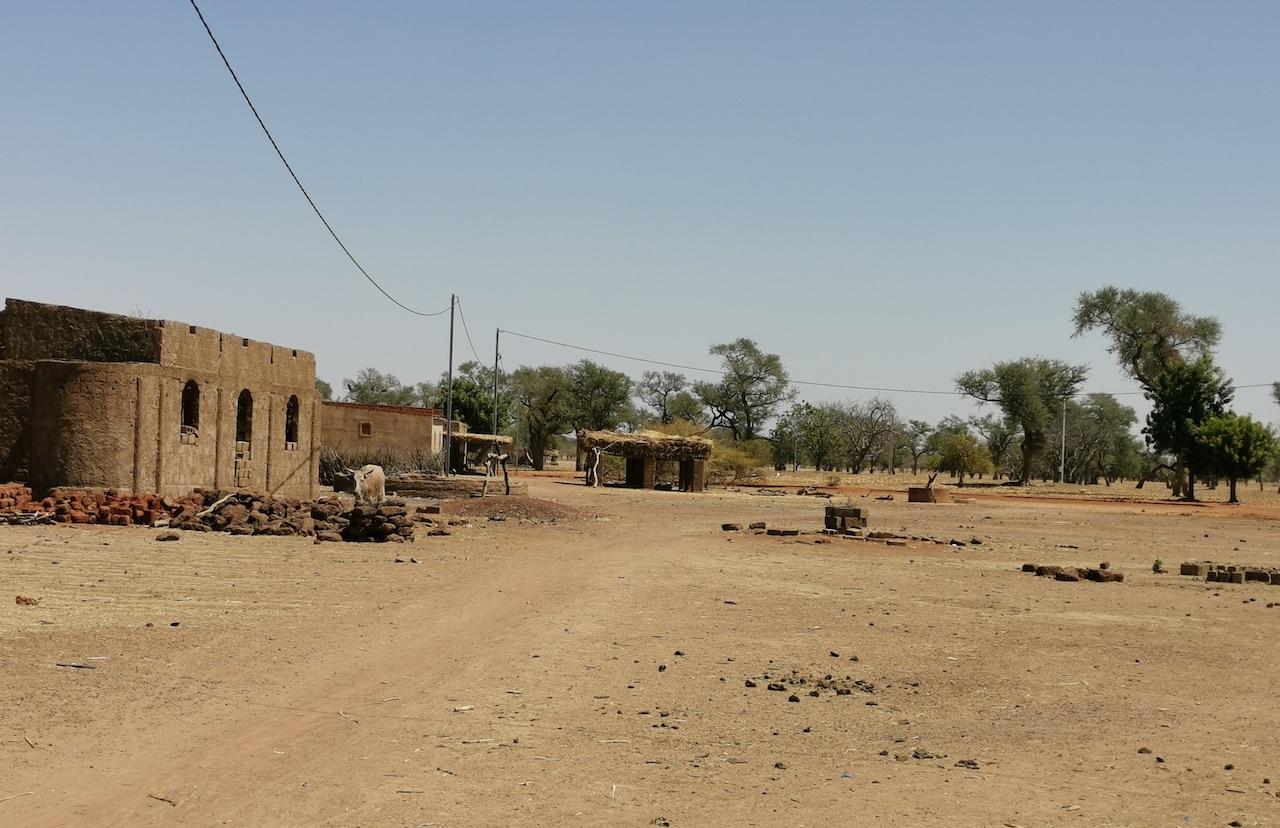 Une vue du village de Lah